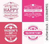 valentines day greeting card... | Shutterstock . vector #1013868901