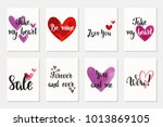 set of happy valentine's day... | Shutterstock .eps vector #1013869105