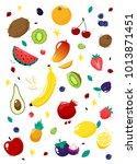 set fruits. vector | Shutterstock .eps vector #1013871451