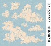 vector set of detailed hand... | Shutterstock .eps vector #1013872414