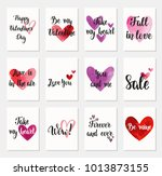 set of happy valentine's day... | Shutterstock .eps vector #1013873155