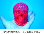 skull printed with plastic of... | Shutterstock . vector #1013874469