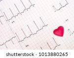 an abnormal electrocardiogram...   Shutterstock . vector #1013880265