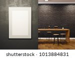 contemporary black brick pub or ... | Shutterstock . vector #1013884831