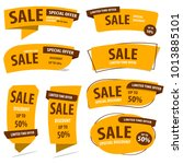 banner sale collection set  ... | Shutterstock .eps vector #1013885101
