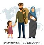 refugees infographic. social... | Shutterstock . vector #1013890444