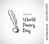 greeting card. world poetry day | Shutterstock .eps vector #1013901595