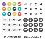 weather icons set | Shutterstock .eps vector #1013906635