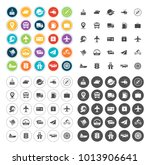 transport icons set | Shutterstock .eps vector #1013906641