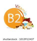 vitamin b2. natural organic... | Shutterstock .eps vector #1013912437