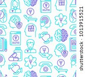 psychologist seamless pattern... | Shutterstock .eps vector #1013915521