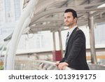 portrait young businessman...   Shutterstock . vector #1013919175