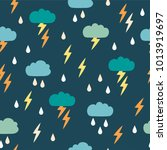 simple children's doodle... | Shutterstock .eps vector #1013919697