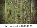 Green Paint Peeling From A...
