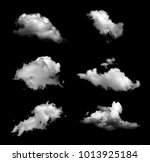Collection Isolated Cloud Black Background - Fine Art prints