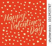 vector valentine day concept.... | Shutterstock .eps vector #1013925787