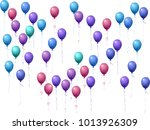 balloons group isolated vector... | Shutterstock .eps vector #1013926309