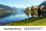 amazing landscape of alpine... | Shutterstock . vector #1013927377
