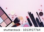 makeup brush and decorative... | Shutterstock . vector #1013927764