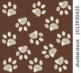 Paw Print With Brown Colored...