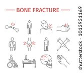 bone fractures line icons.... | Shutterstock . vector #1013931169