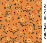 floral embroidery seamless... | Shutterstock .eps vector #1013931451