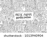 arctic animals seamless pattern ... | Shutterstock .eps vector #1013940904