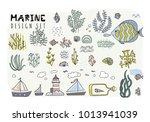 set of underwater elements.... | Shutterstock .eps vector #1013941039