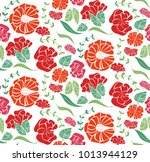 vector seamless pattern with... | Shutterstock .eps vector #1013944129