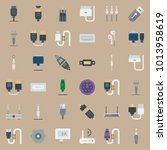 icons connectors cables with... | Shutterstock .eps vector #1013958619