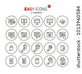 easy icons 40b e commerce | Shutterstock .eps vector #1013960584