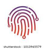 abstract technology logo ... | Shutterstock .eps vector #1013965579
