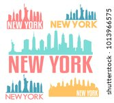 new york city usa flat icon...   Shutterstock .eps vector #1013966575