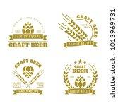 set of vector emblems.... | Shutterstock .eps vector #1013969731