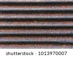 close   up of the rust on zinc... | Shutterstock . vector #1013970007