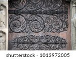 Small photo of Door. The alto-relievo of cathedral of the Notre-Dame.