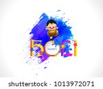 illustration of colorful happy... | Shutterstock .eps vector #1013972071