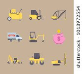 icons construction machinery... | Shutterstock .eps vector #1013972554