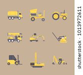 icons construction machinery... | Shutterstock .eps vector #1013972611