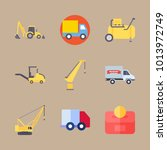 icons construction machinery... | Shutterstock .eps vector #1013972749