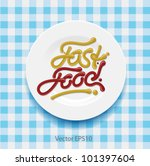word fast food   made up of... | Shutterstock .eps vector #101397604