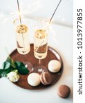 luxurious champagne wedding... | Shutterstock . vector #1013977855