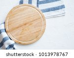 Empty Wooden Platter With...