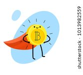 concept of crypto currency.... | Shutterstock .eps vector #1013982559