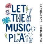 Music Theme Slogan Graphic Wit...