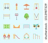 icons about amusement park with ... | Shutterstock .eps vector #1013987329