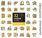 big linear icons set of hotel... | Shutterstock . vector #1013993281