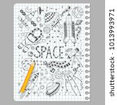 space doodles objects hand... | Shutterstock .eps vector #1013993971
