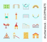 icons about amusement park with ... | Shutterstock .eps vector #1013996875