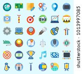 icons about digital marketing... | Shutterstock .eps vector #1013997085